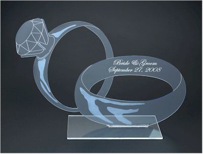 Custom Personalized Wedding Table Ring Center Piece